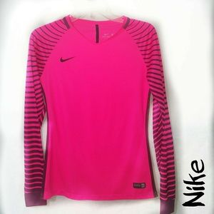 Nike Small Hot Pink Black Dri-fit  Long Sleeve Top